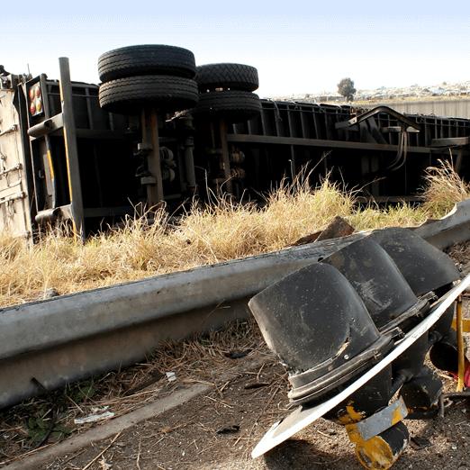 A photo of a derailed train